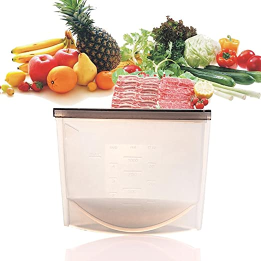 Aolvo - Bolsa de silicona reutilizable para almacenar alimentos y ...