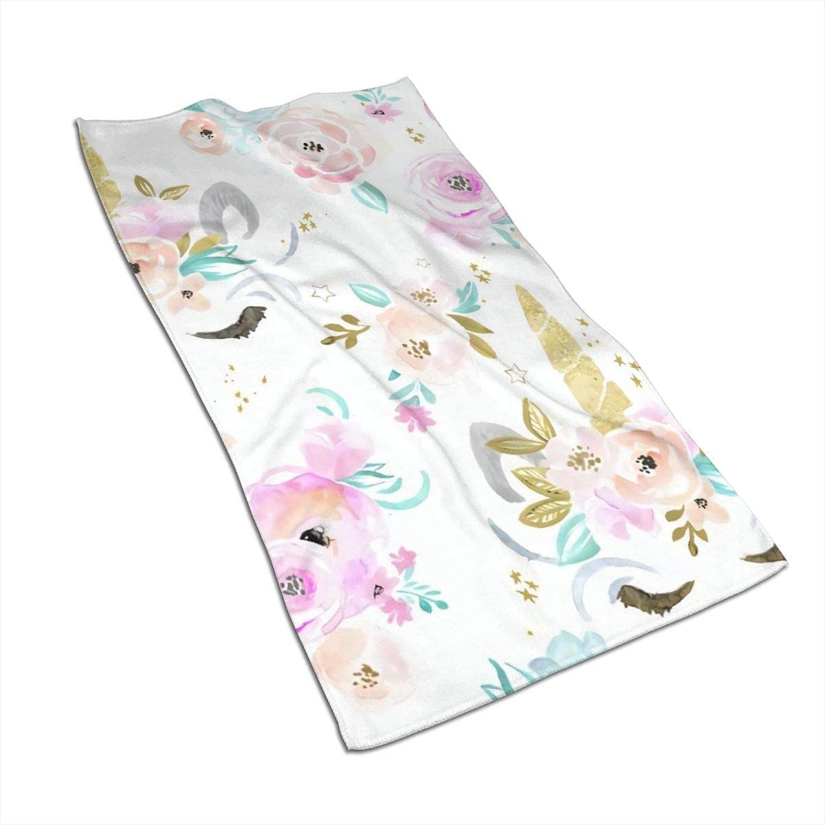 not Unicorn Floral Towel 27.5 X15.7 in for Gym Travel Pool Home Use