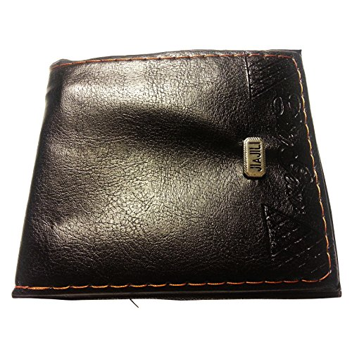 """1 Wallet for Men with Zipper Inner Pockets - Man Made Leather (4.5"""" X 3.75"""" X 0.5""""), and 1 - Belt for Men with Skull Bones Buckle (Black and Silver) 2 Item Bundle"""