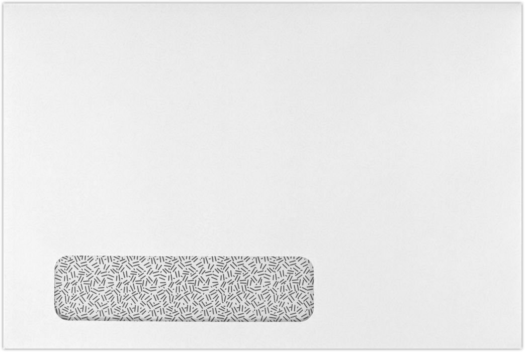 6 x 9 Booklet Window Envelopes - 24lb. White w/Sec. Tint (50 Qty) | Perfect for Catalogs, Annual Reports, Brochures, Magazines, Invitations | 69BW-24WMI-50 envelopes.com