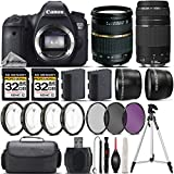 Canon EOS 6D DSLR Camera + Tamron 28-75mm XR Di Lens + Canon 75-300mm Lens + 0.43X Wide Angle Lens + 2.2x Telephoto Lens + 64GB Storage + 4PC Macro Kit + UV-CPL-FLD Filters - International Version