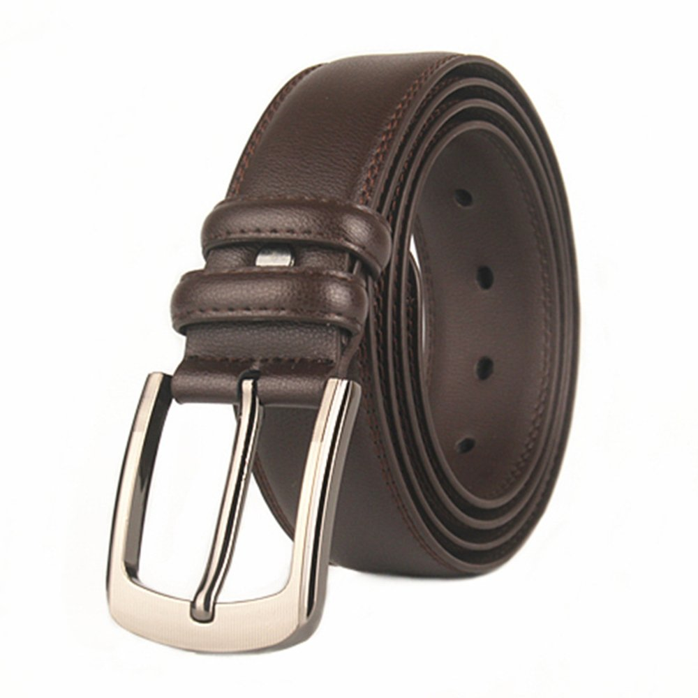 Men's Leather Belt Big & Tall for Waist up to 160 cm/63 Available,Black & Brown Colors (Waist 56'-63/140cm-160cm, Black)