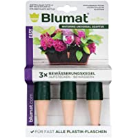 Blumat Garden Plant Spikes, Made in Austria, 3-Pack of Stakes Fits Standard 1 Liter & 2 Liter Bottles for Automatic Vacation Watering