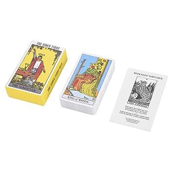 Haofy 78 Piezas Cartas del Tarot Juego de Cartas con Caja (Caja Amarillo)