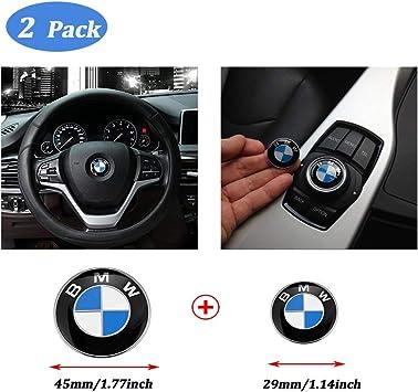 OSIRCAT 29mm BMW Multimedia Control Badge Alloy Sticker fit BMW M 1 3 5 x1 x3 x5 x6 GT