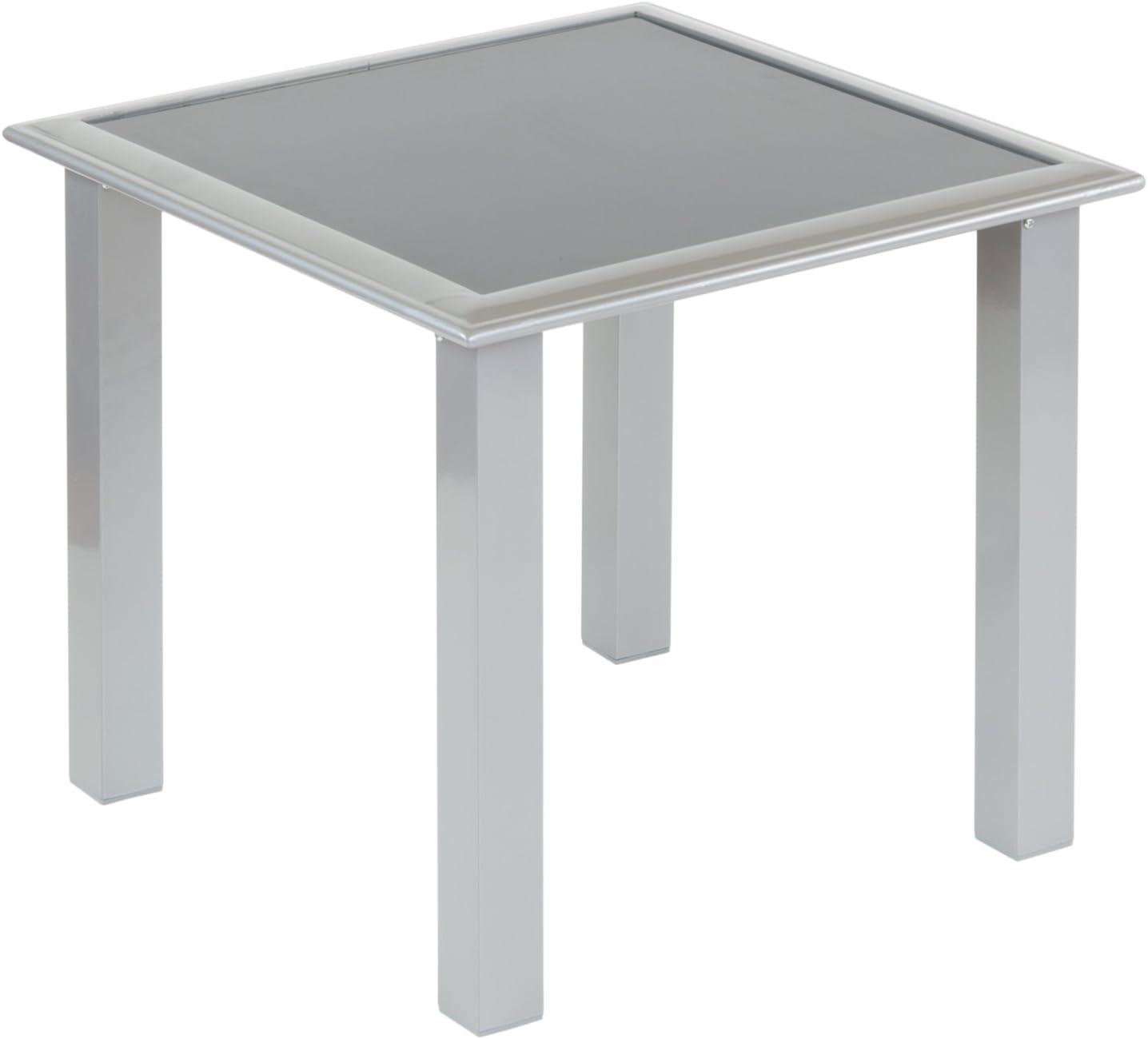 Tumbona Juego Bonaire con 2 baldas + 1 mesa (Cristal) de aluminio y resistente plástico: Amazon.es: Jardín