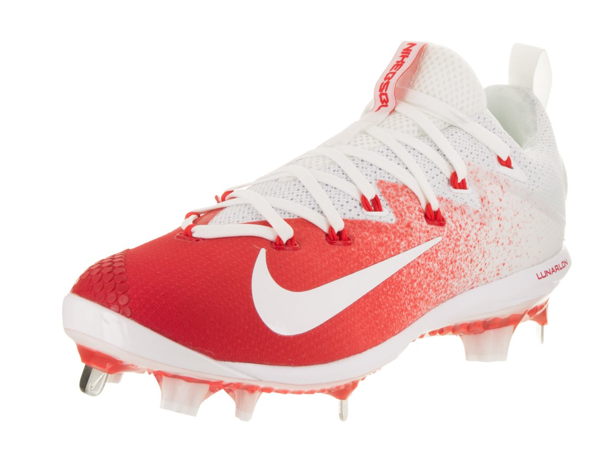 NIKE Men's Lunar Vapor Ultrafly Elite White Synthetic Leather Baseball Cleats 10.5