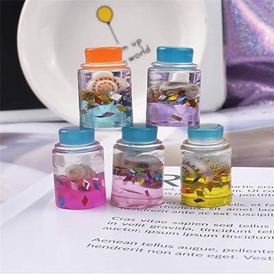 FlYHIGH - Juego de 5 Botellas de Cristal con Forma de Estrella para Barro Transparente y Esponjoso, Accesorios de Arcilla de Modelado: Hogar