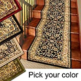 Marash Luxury Collection 25' Stair Runner Rugs Stair Carpet Runners (Black)
