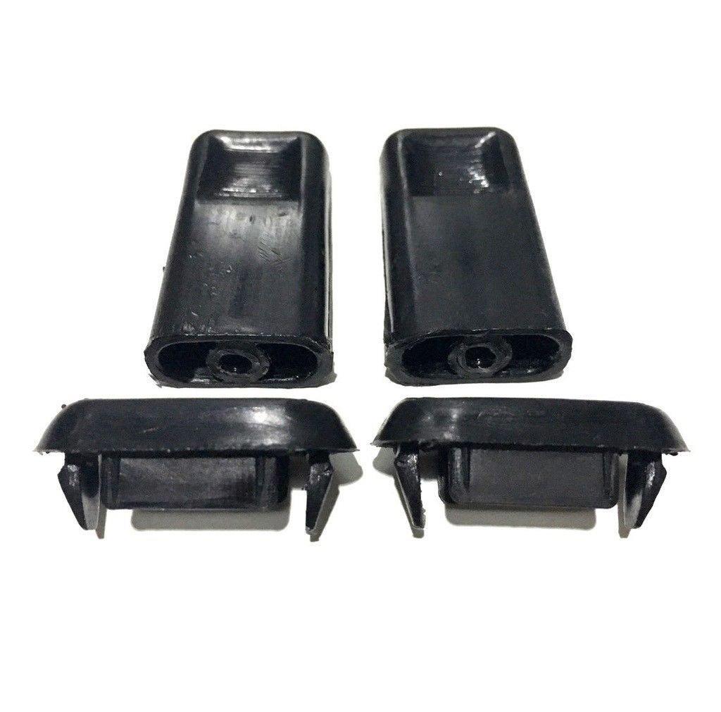1 Pair Door Lock Knob Surround 2x for Toyota Hilux Pickup Ln50 Ln56 Ln60 Mk2 84-88 Black
