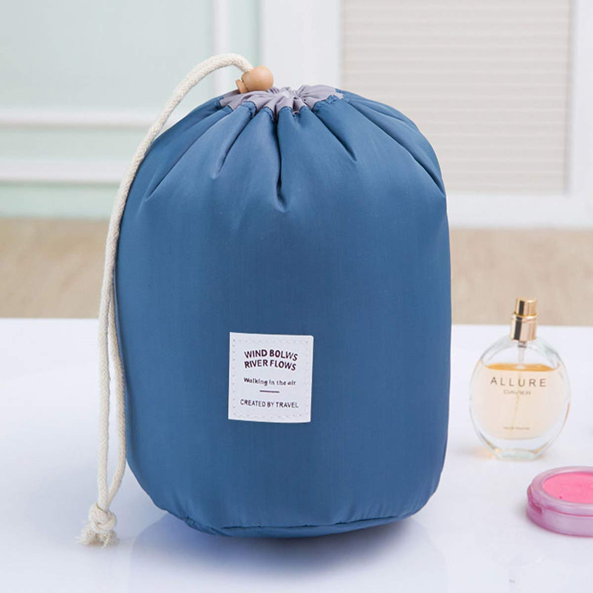 0c601781c665 Amazon.com : SunTrade Portable Drawstring Make up Bag,Travel ...