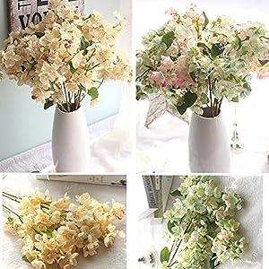 SHZONS Artificial Peach Flowers Bouquet For Home Wedding Decoration, Silk Fake Sakura Peach Blossom Centerpiece arrangements 2PCS 4