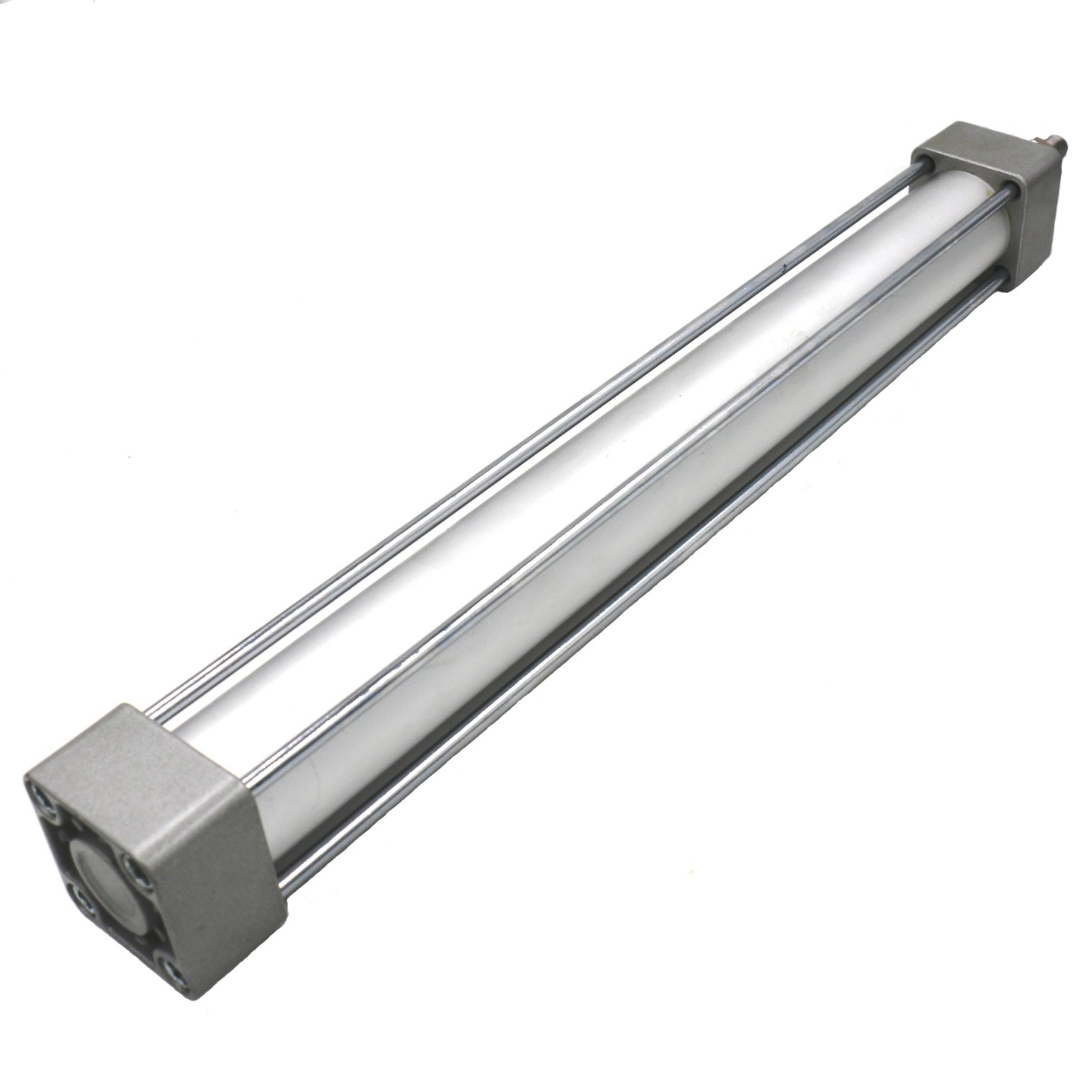 Baomain Pneumatic Air Cylinder SC 32 x 500 PT 1/8, Bore: 1 1/4 inch, Stroke: 20 inch, Screwed Piston Rod Dual Action 1 Mpa