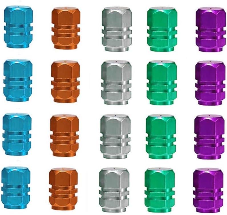 Muchen Shop Ventilkappen Für Auto 20 Stück Universalgröße Aluminium Reifen Ventil Staubkappen Für Fahrrad Motorrad Grün Himmelblau Hellgrau Orange Lila Küche Haushalt