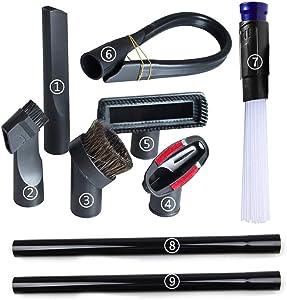 """GIBTOOL 1 1/4"""" Vacuum Brush Attachment Extender Accessories, 9 Packs"""