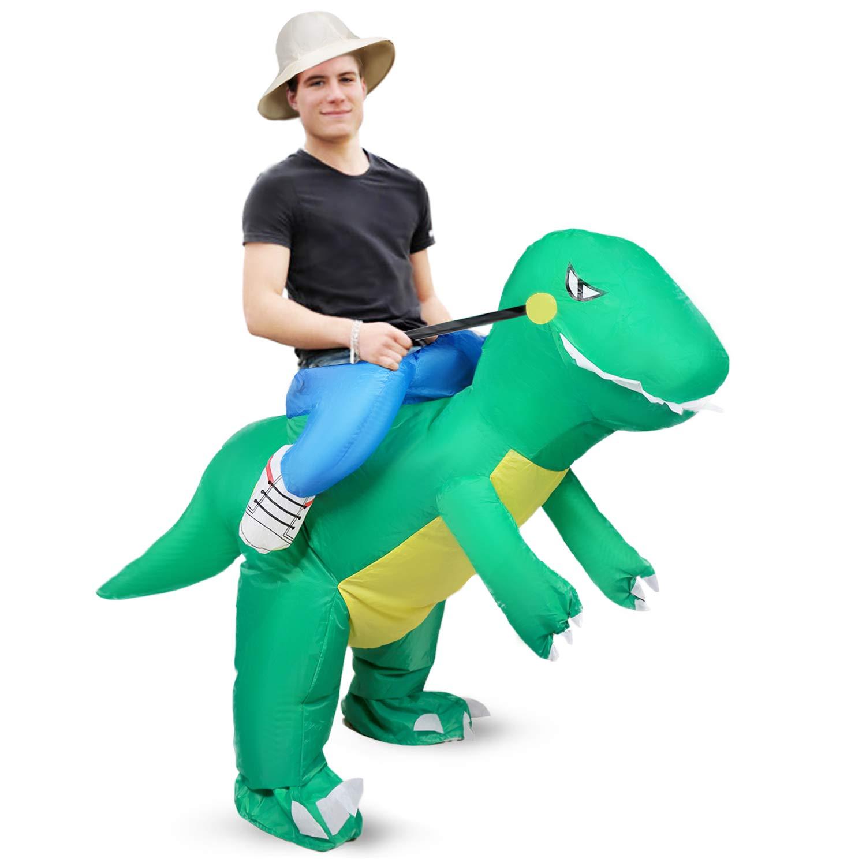 xiaoyi Disfraz Hinchable para Halloween, Disfraz Hinchable de Unicornio Hinchable para Adulto/niño, Disfraz de Dinosaurio Hinchable