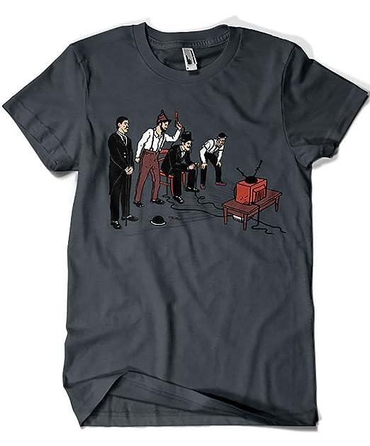 Camisetas La Colmena 1452-Camiseta Premium, Retro Gamers (Azafran)