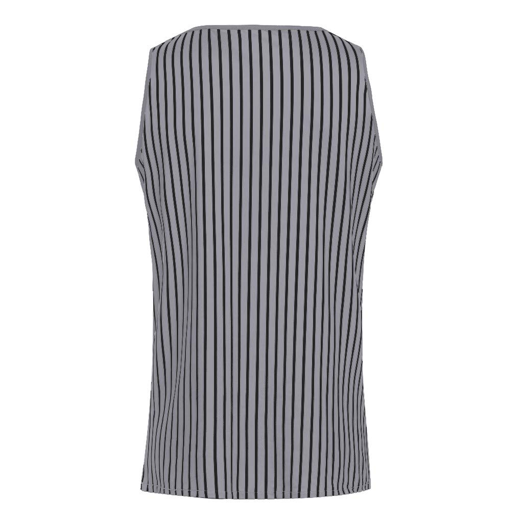Mens Tank Tops Undershirt Fitness Muscle Striped Print Sleeveless Bodybuilding Tight-Drying Vest Tops by Dainzuy Gray by Dainzuy Men Tops (Image #4)