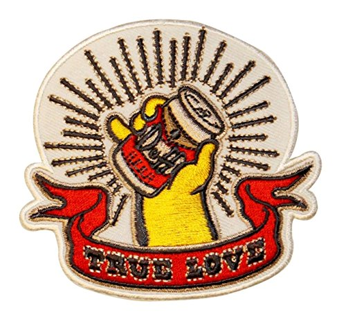 (The Simpsons True Love Duff Beer Patch Homer Can Embroidered Iron On Applique)