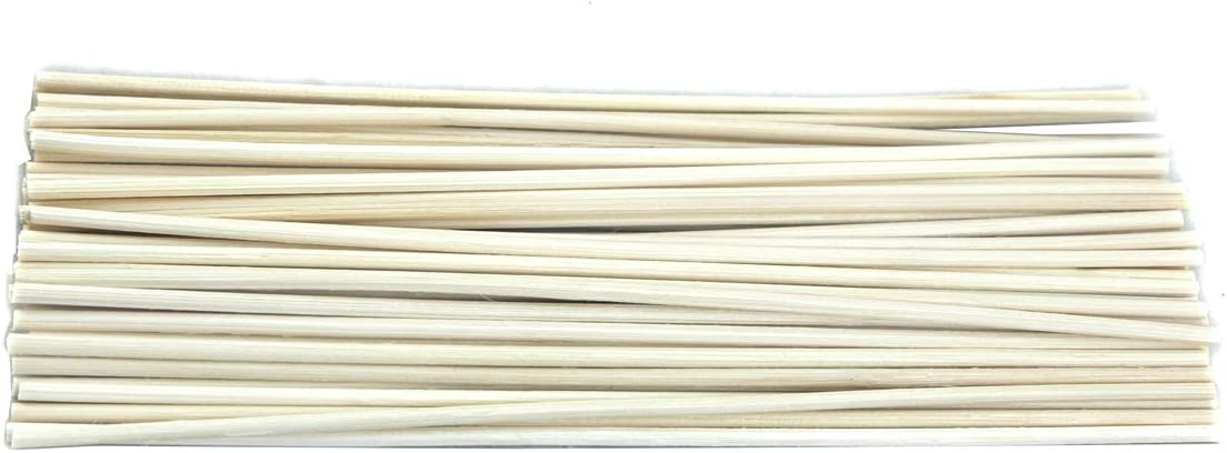 Simoutal Reed Diffuser Sticks 50pcs 10 inch, Black Wood Rattan Reed Sticks Replacement Refill Sticks Essential Oil Aroma Diffuser Sticks