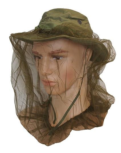 Amazon.com   GI Vietnam Era Jungle Boonie Hat With Insect Head Net ... f24883ccacd