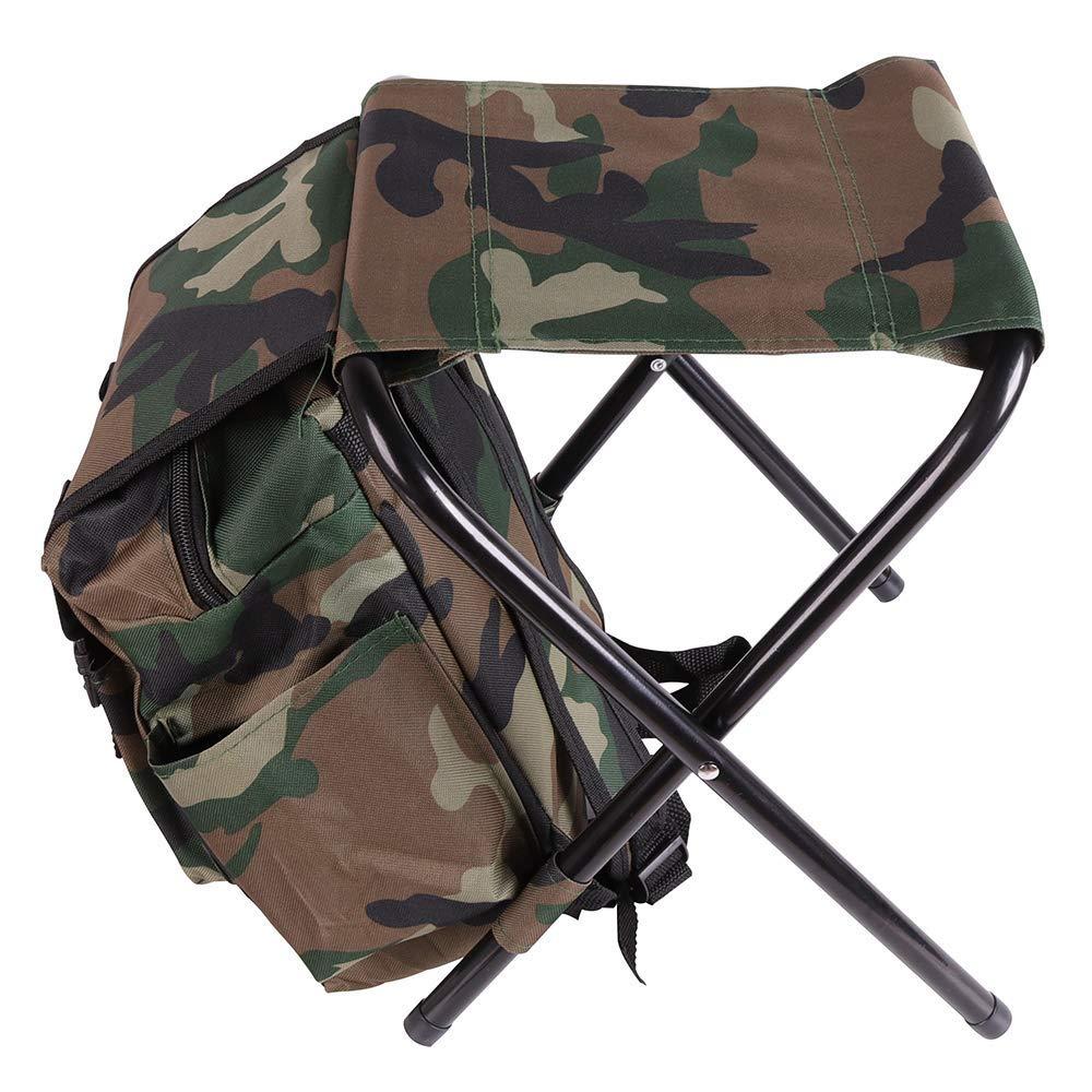 Chaise de sac à dos de luxe, sac à dos pour sac à dos Léger et portable, fauteuil de sac à dos pliant ultraléger et compact pour le camping, la pêche, le pique-nique, les voyages et la randonnée