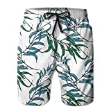 Adults Willow Leaf Boardshorts Drawstring Quick Dry Board Shorts