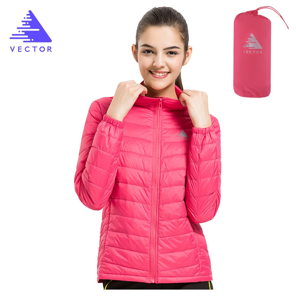 VECTOR Windproof Packable Carry Lightweight 90% White Duck Down Coat Down Jacket
