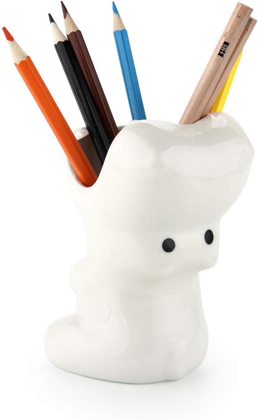 ComSaf Portalápices de Porcelana Blanca, Hipopótamo Porta Lápiz Creativo Organizadores Pequeña Bote para Bolígrafo Plumas Lapices Crayón Estudio y Oficina Decoración de Escritorio: Amazon.es: Hogar