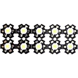 SODIAL(R)10pcs 1W Haute puissance Etoile LED Lumiere Lampe Ampoule (blanc)