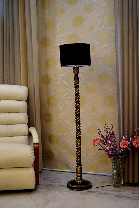 Tu Casa WWF-61 220-Watt Floor Lamp (Black) Standing Lights at amazon
