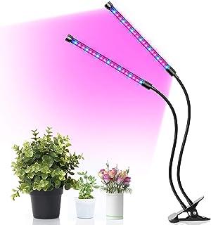 Minger LED Pflanzenlampe, 18W Pflanzenlicht Wachstumslampe Automatische EIN-/Ausschalten 3Timer 3H/9H/12H 3 dimmbar Modi Pflanzenleuchte mit Rot Blau Licht für Pflanzen Wachstum im Gewächshaus