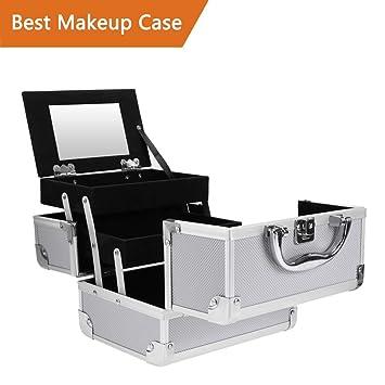 Amazon.com: Estuche portátil para maquillaje, organizador de ...