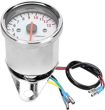 Motorrad Drehzahlmesser Fydun 0 13000 U Min Elektronische Tachometer Led Anzeige Instrument Für Dc 12v Motorrad Auto
