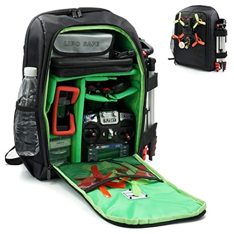2c5c8134da Amazon.com  elechawk Green FPV Racing Drone Quadcopter Backpack Carry Case  Bag RC Comparable with Betaflight Backpack  Toys   Games
