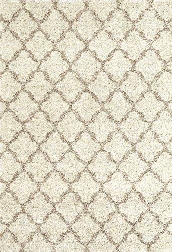 Karastan Prima Shag Temara Lattice Woven Rug, 5'3x7'7, Camel (Karastan Geometric Rug)