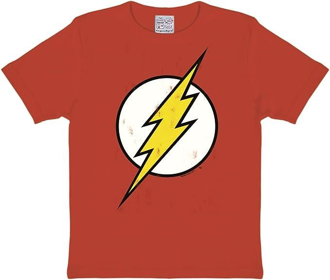Logoshirt Kids Shirt DC Flash Logo Camiseta para Niños: Amazon.es ...