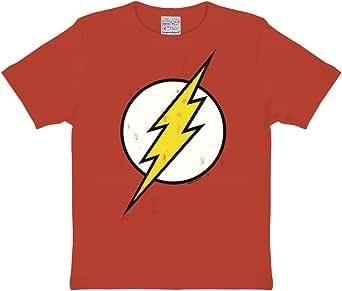 Logoshirt Kids Shirt DC Flash Logo Camiseta para Niños