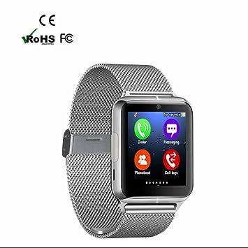 Reloj Inteligente,ranura para tarjeta SIM,Facebook WhatsApp Sync SMS, Pulseras Actividad,Pulsera Inteligente,Monitor de Actividad y Bluetooth,Pódometro ...