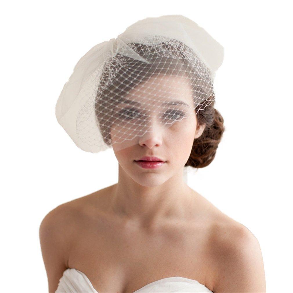 YAZILIND Coquille de mariage de style occidental Voile de mariée élégante Voile courte de filet blanc avec peigne YAZILIND JEWELRY LIMITE 1705T0010