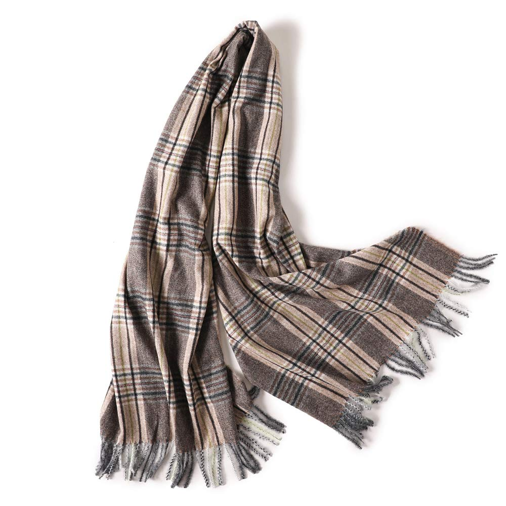 Cashmere Feel Winter Scarf For Women Super Soft Warm Plaid Pashmina Shawls Wraps (GZC01)