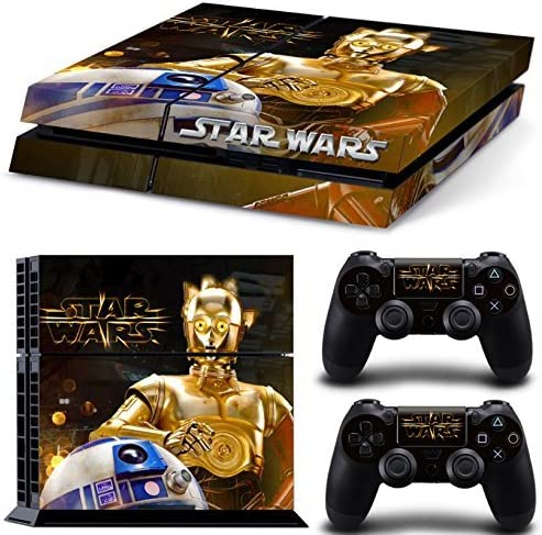 Ps4 Playstation 4 Console Skin Decal Sticker Star Wars R2D2 C3PO + 2 Controller Skins Set by ZoomHit: Amazon.es: Videojuegos