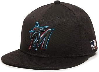 a1707786c96 OC Sports Miami Marlins MLB Black 2019 Flat Brim Hat Cap Adult Men s  Adjustable