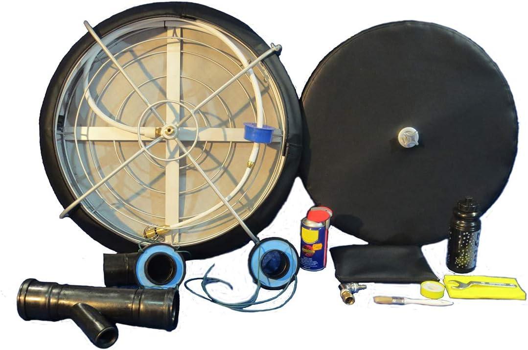 SOFFIACANNE kit 3 limpieza de chimeneas estufas de pellets tubos conductos de humo sondas deshollinador