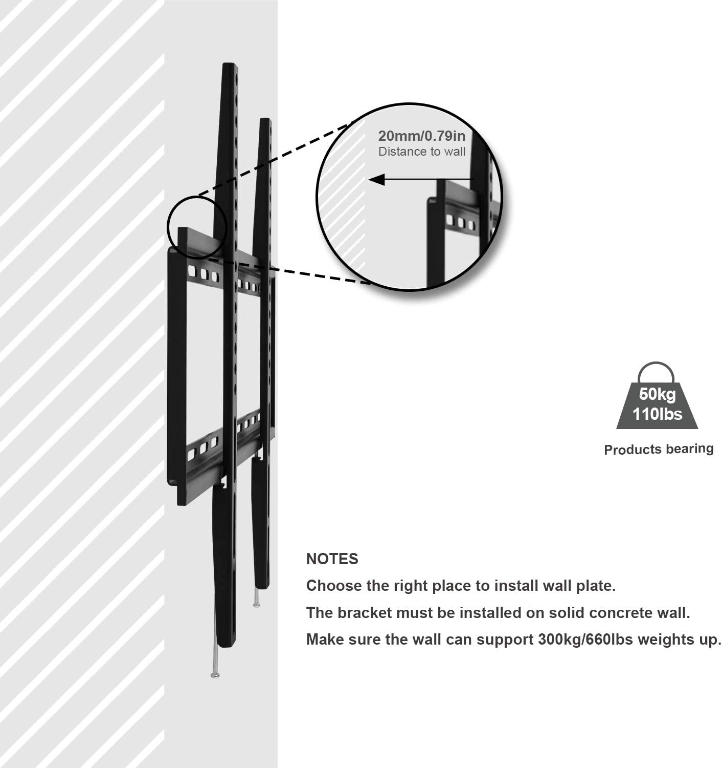 TV Mount with MAX VESA 600x400mm Loading Capacity up to 132 LBS RENTLIV Tilting TV Wall Mount Bracket for Most 32-70 Inches TV fits for 16 18 24 Wood Studs