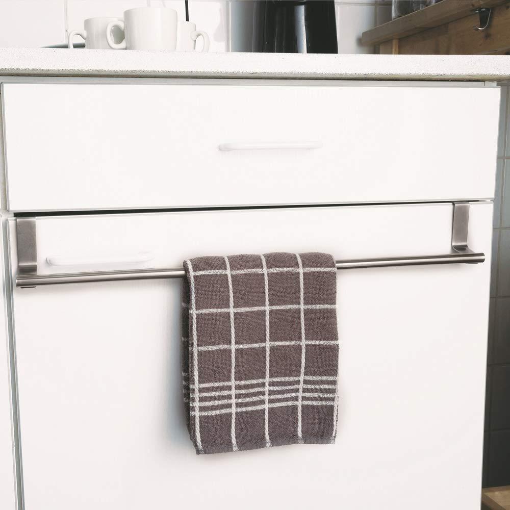 Megaprom T/ür Kleiderstange Hakenleiste Handtuchhalter T/ürgarderobe Handtuchstange Garderobe