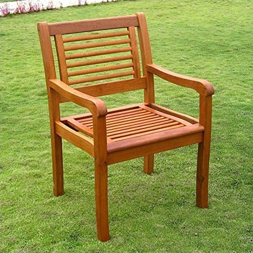 International Caravan TT-1B-051-2CH-IC Furniture Piece Royal Tahiti Bar Harbor Set of 2 Arm Chair