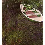 'The Pink Rowboat 1887 By Claude Monet' oil painting, 30x33 inch / 76x83 cm ,printed on Perfect effect Canvas ,this High Resolution Art Decorative Prints on Canvas is perfectly suitalbe for Game Room decoration and Home decoration and Gifts