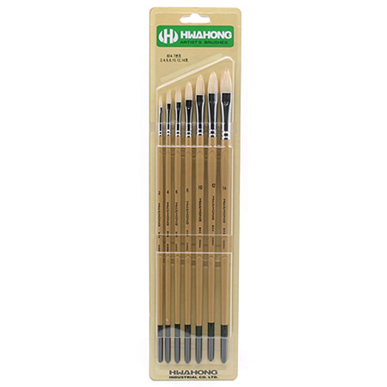 Hwahong 804 Series Oil & Acrylic Brush 7 Types