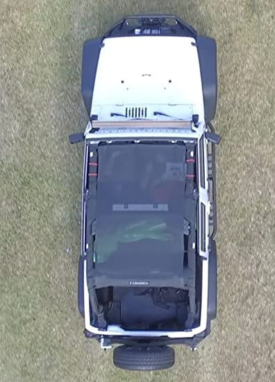 Amazon.es: Jeep Wrangler Alien Bikini de malla Parasol Cubierta Superior ofrece una protección UV para su 2 puertas JK (2007 - 2017)